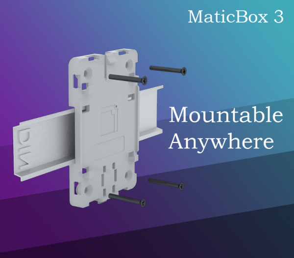 MaticBox 3 - mountable anywhere. Mount it on a DIN rail