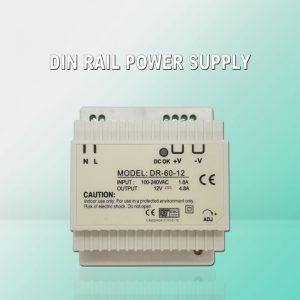 DIN rail power supply AC220V/ DC 5/12/24V 5A