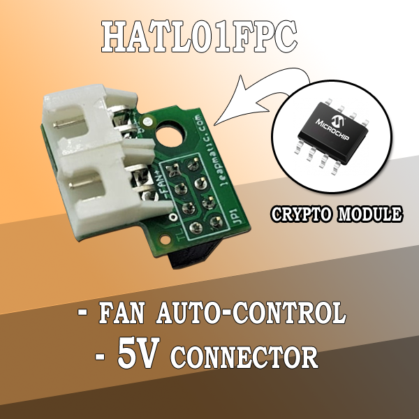 HATL01FPC Fan Auto-Control Module with 5V connector and crypto chip for Raspberry Pi