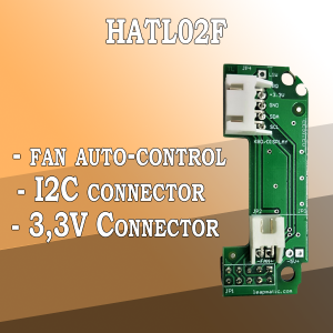 HATL02F Fan auto-control module for Raspberry Pi with I2C pins