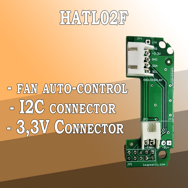 Read more about the article HATL02F Fan auto-control module for Raspberry Pi with I2C pins