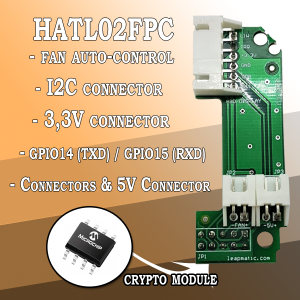 HATL02FPC Auto-Fan Control & Crypto Module with I2C, 5V, TXD, RXD pins