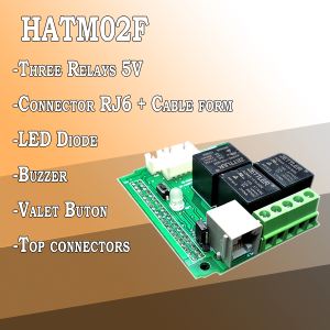 HATM02F – Three Relay module for Raspberry Pi
